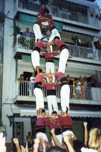20-9-1997: Primers tres de set aixecat per sota descarregat de la Jove de Sitges al Cap de la Vila