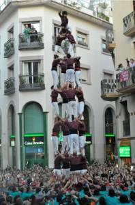 24-10-2009: Quatre de vuit descarregat de la Jove de Sitges, al Cap de la Vila de Sitges a la XVII Diada de la Colla