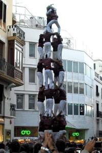 22-10-2011: Quatre de vuit descarregat de la Jove de Sitges, al Cap de la Vila de Sitges a la XIX Diada de la Colla