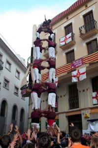 24-9-2006: Primer quatre de vuit descarregat de la Jove de Sitges, al Cap de la Vila