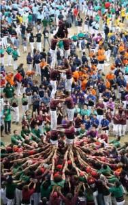 6-10-2012: torre de set al Concurs Casteller de Tarragona