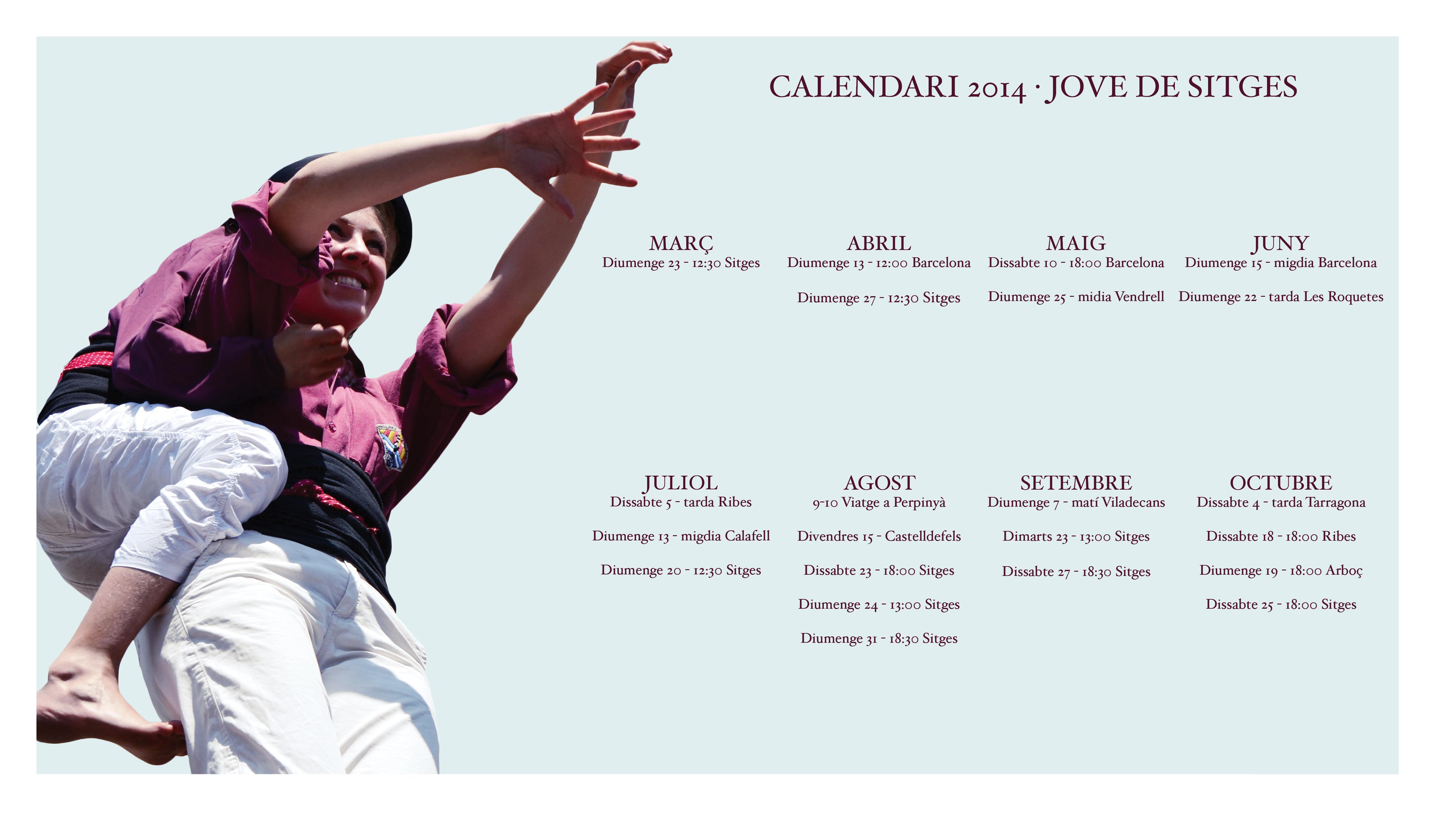 Calendari d'actuacions temporada 2014